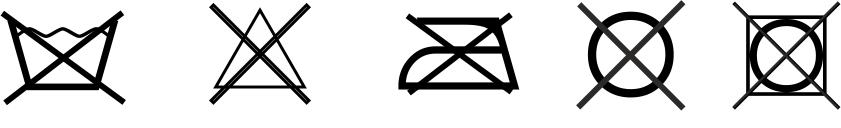 Umelá koža - symboly údržby
